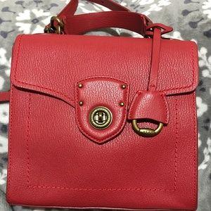 Lauren Ralph Lauren Leather. Crossbody/Shoulder Ba